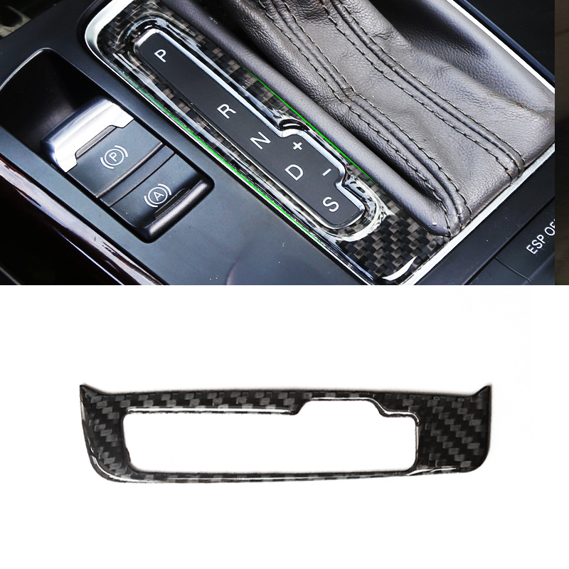 For Audi A4 B8 A5 Q5 2009- 2013 2014 2015 2016 Car Carbon Fiber Center Control Gear Shift Panel Switch Button Cover Trim image