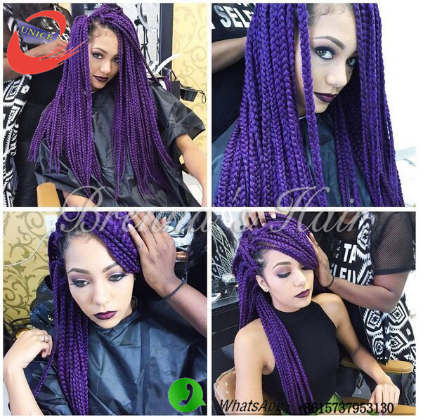 Blue Box Braids Crochet : ... blue color synthetic hair extension crochet braids hairstyles box