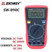 SNDWAY Digital-Multimeter TrueRMS ACDC spannung strom amperemeter voltmeter ohm widerstand kapazität frequenz temperatur tester