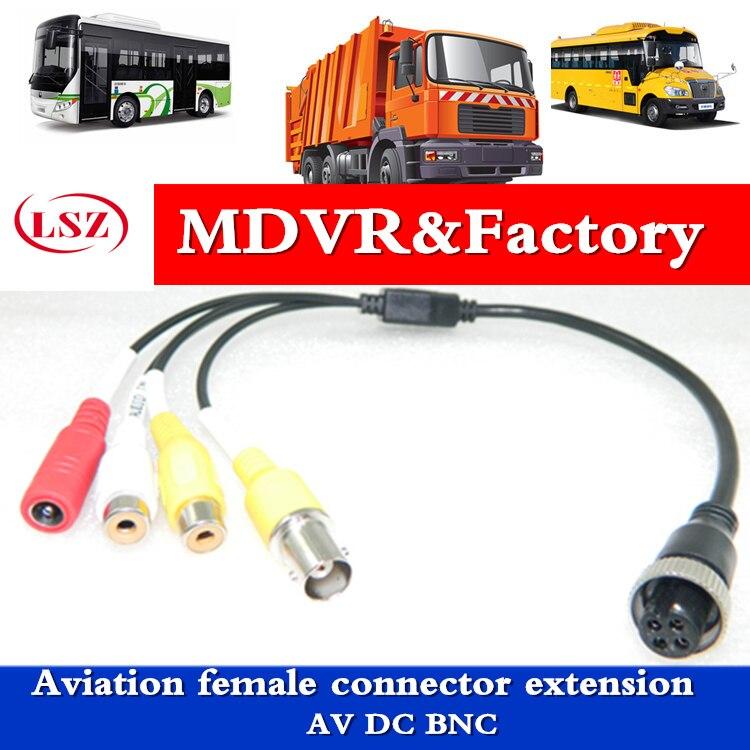 Aviation Female Connector Extension AV DC BNC  MDVR Transfer Line  Car Camera Video Transmission Line  Factory Direct Batch