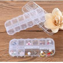 Adjustable Jewelry Necklace Transparent Storage Box Plastic Case Holder Organizer Beads Mini Jewelry Container Home Finishing(China)