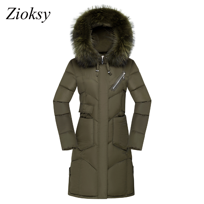 Zioksy 2017 Winter Jacket Women Hooded Coat Fur Collar Thick Warm Female Plus Size 3XL Outerwear Parkas Ladies Cotton Long Coat women winter jacket 2017 new fashion ladies long cotton coat thick warm parkas female outerwear hooded fur collar plus size 5xl