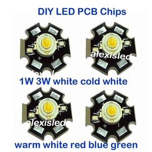1 W 3 W wysokiej mocy LED Chip światła PCB nadajnik zimny biały ciepły biały czerwony zielony niebieski z 20 MM gwiazda PCB darmowa dostawa! 10 sztuk