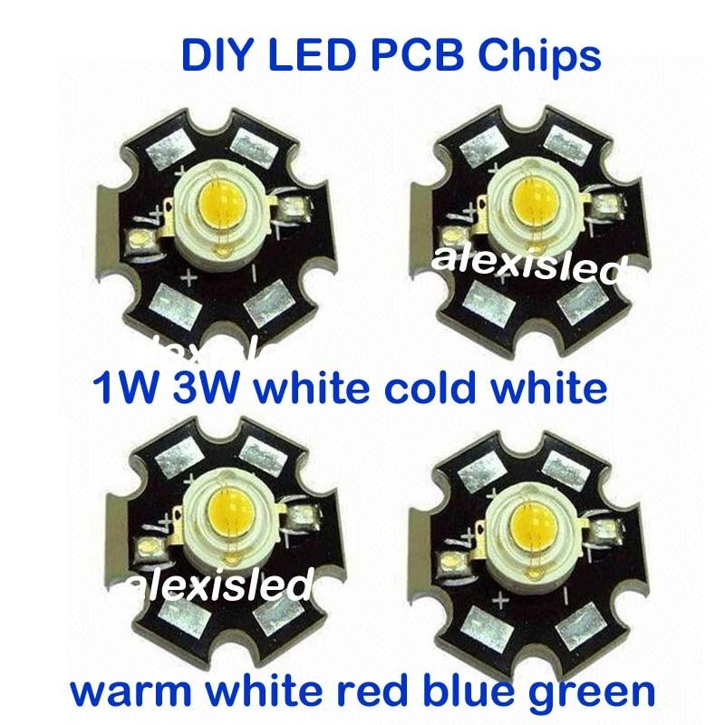 50pcs 3W warm white High Power Led Bead Chip 3 Watt 3000-3500k with 20mm pcb
