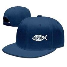 9b9188d4e67 Jesus Christian Fish Custom Men And Women Fashion Hip Hop Baseball Cap  Adjustable Snapback Trucker Hat