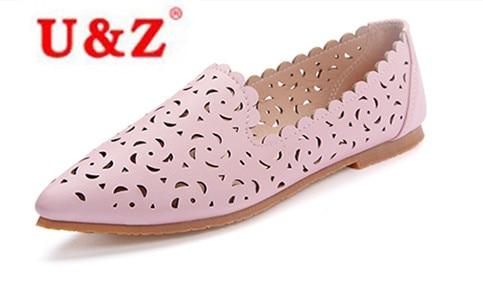 2017 de la moda de piel de becerro de perforación Láser agujero Zapatos casuales