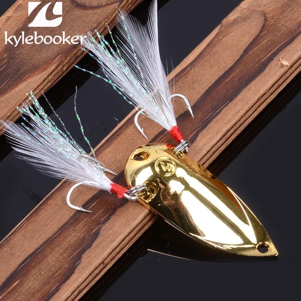 الصيد السحر ملعقة معدنية الطعم مزدوجة اليابانية هوك الريش 2.5 جرام 5 جرام 7.5 جرام 10 جرام 15 جرام 20 جرام الفضة الذهب الزيز إغراء الصيد يتناول