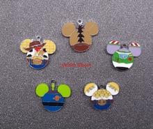 جديد 60 قطعة الكرتون a01s رئيس المينا المعادن المعلقات Charm بها بنفسك صنع المجوهرات اكسسوارات الهاتف المحمول M05