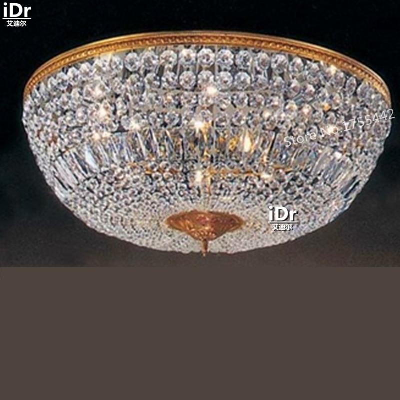 Plafonniers or rétro minimaliste moderne hall de l'hôtel lampe chambre lampe cristal encastré lampe D75cm x H30cm