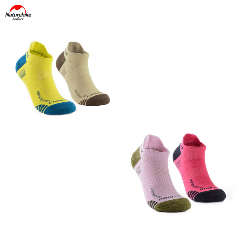 2 pairs of Naturehike Running Socks Man Woman Sock Slippers Coolmax Quick dry Sport Socks S M L NH17A014-M 36-44 big size