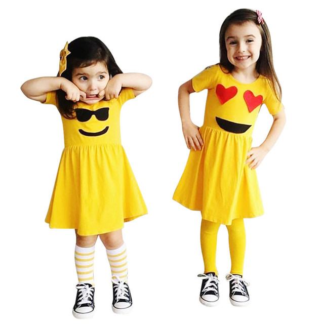 Toddler Infant Kids Baby Girls Dress Emoji Emoticon Smiley Sun Dresses  Outfits-in Dresses from Mother & Kids on Aliexpress com | Alibaba Group