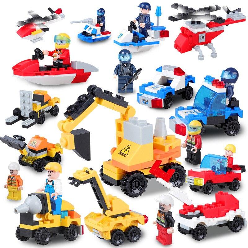 Génie lutte contre l'incendie Série Pelle Corps Feu Camion En Plastique Modèle Building Block Compatible Legoeing Jouets Pour Enfants Cadeau
