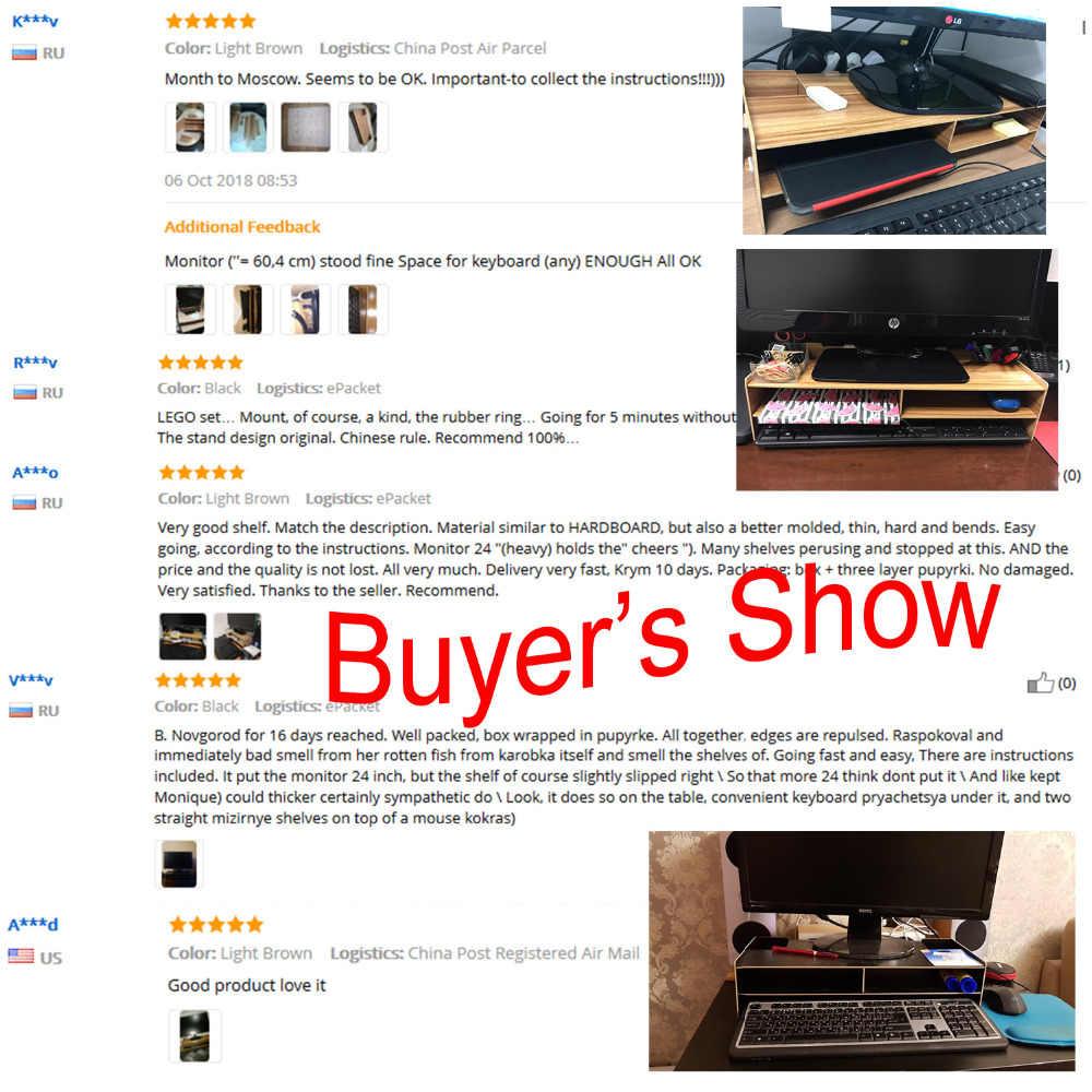 Besegad декоративная деревянная настольная подставка для монитора, стоячий держатель для клавиатуры, настольный органайзер, чехол для хранения для компьютера, ноутбука, телевизора