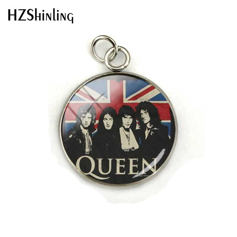 2019 New Design Rock Band Queen Stainless Steel Plated Charms Fashion Queen Band Musician Jewelry Pendants for Men Women