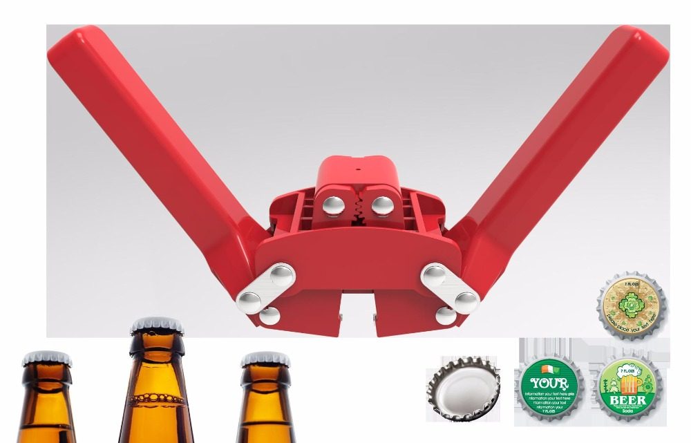 DIY BEER BOTTLE CAP CAPPER beer bottle Capper Bottle Cap Sealing Tool for Home Brew Beer crown caps on reusable glass bottles stainless steel beer bottle soda bottle spices bottle cap opener black silver
