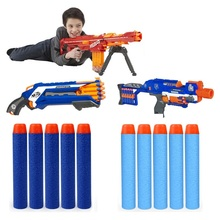 цена на 500pcs Foam Refill Bullets Dart For Elite Rampage Retaliator Series Blasters Refill Clip Darts Electric Toy Gun Soft Bullets