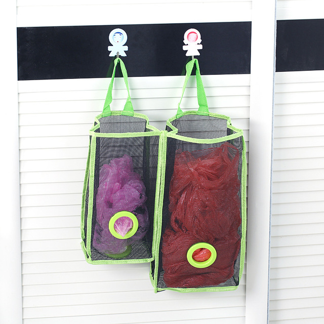 multifunction hang bathroom mesh storage bag kitchen store content bag receive kitchen wall hanging storage of