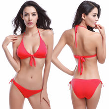 2017 Bikini Swim Suit Two-Piece Swimming Wear Sexy Push Up Beachwear Sweet  Strappy Bathing 0255c84f34dd