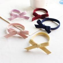 Korean Hair Ring Bow Elastic Rubber Bands Girl elastic hair rubber bands ties headwear ring rope Hair Accessory Women Girl ST06