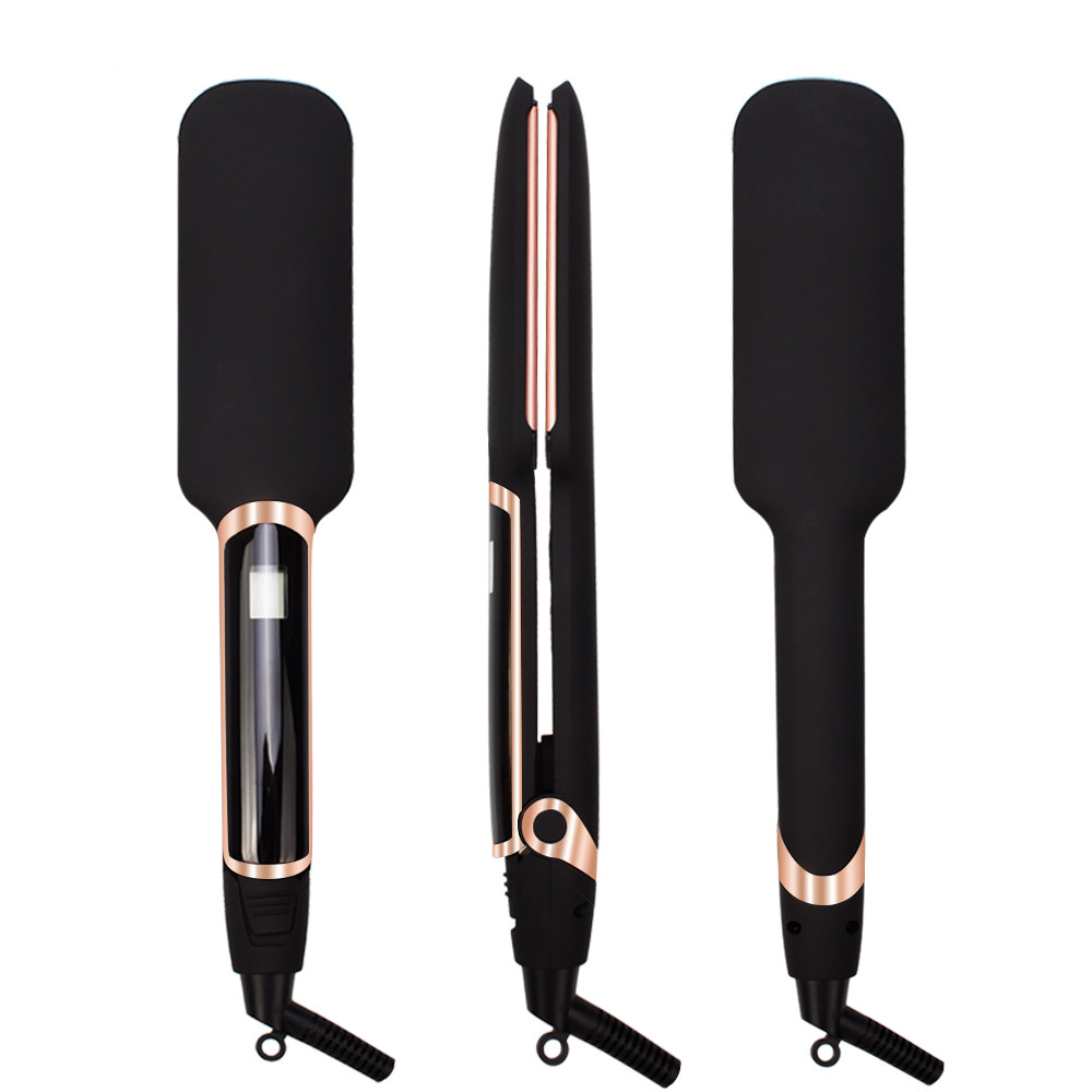 Infrared Flat Iron Wide Plates Hair Straightener MCH Fast Heating Dual Voltage Plates LCD Display Flat Hair Irons professional styling tool lcd display titanium plates straightening iron mch hair straightener high temperature fast heating