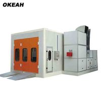 Painting And Baking Room High Quality Infrared Heating System Spray Booth Factory Car Paint Oven Color Can Choose
