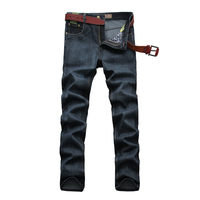 Brand Clothing Men S Autumn Thicker Jeans Cotton Straight Casual Full Length Jeans Pants Fashion Plus