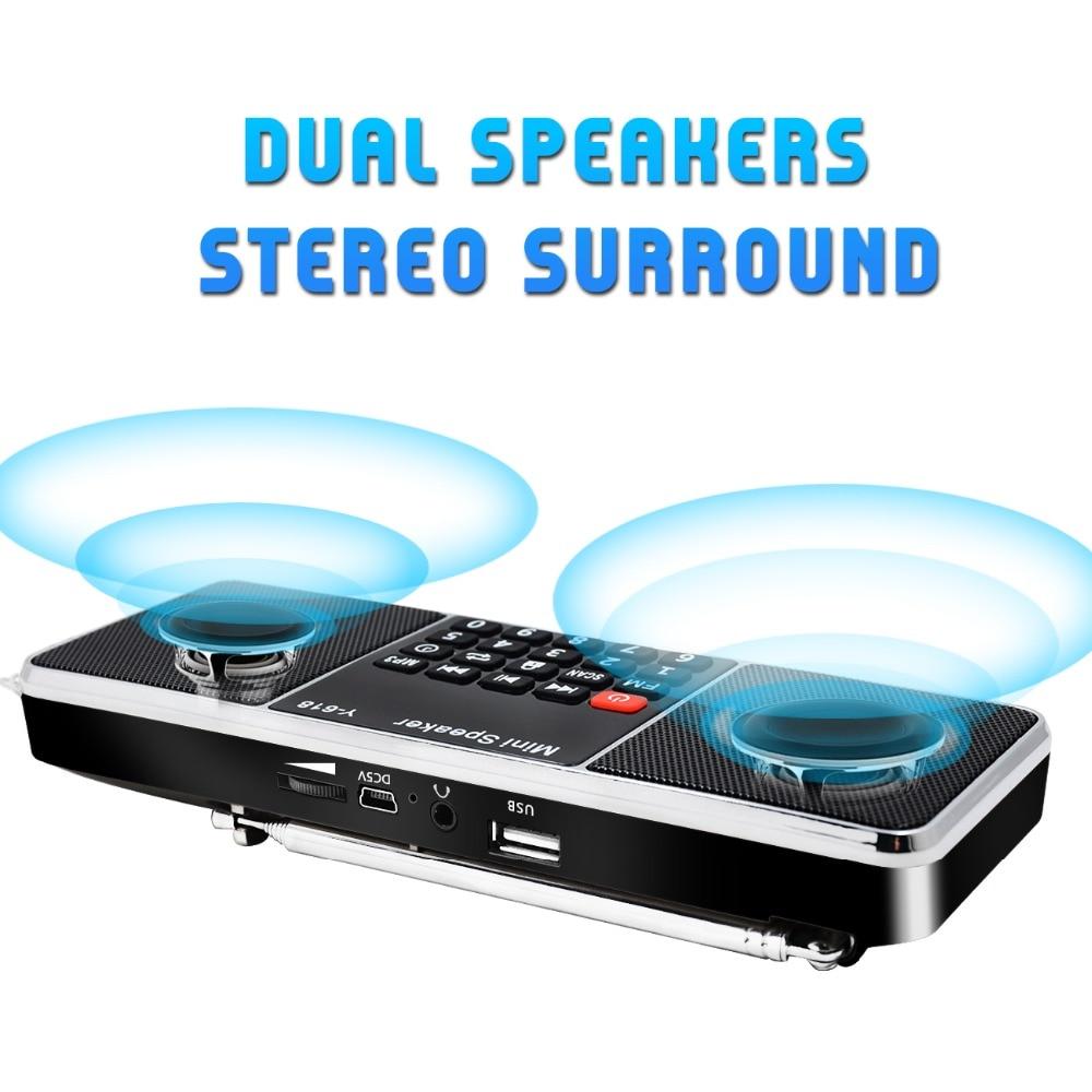 Lefon Digital FM Radio Receiver Speaker Stereo MP3 Player Support TF Card USB Drive LED Display Time Shutdown Portable Radios Pakistan