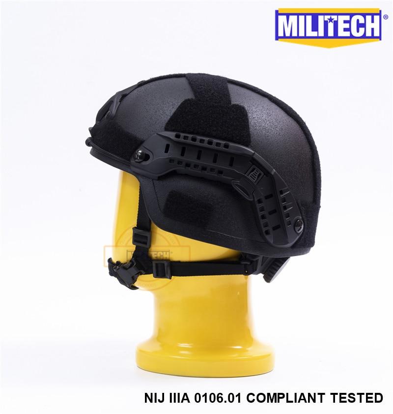 MILITECH Svart BK MICH NIJ Level IIIA 3A Taktisk Twaron Bulletproof - Säkerhet och skydd - Foto 3