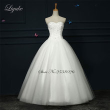 Liyuke Gorgeous Satin Strapless Floor Length Lace Up 2017 Wedding Dress Crystals Sleeveless Ball Gown Bridal Dresses Wedding