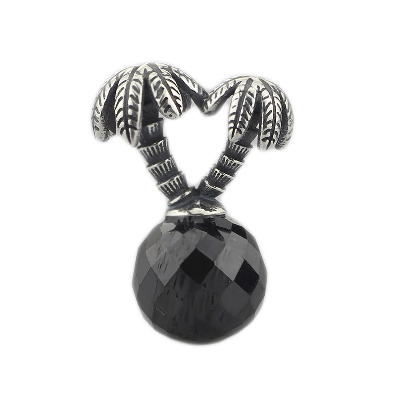 Coconut trees Bead Authentic 925 Sterling Silver Charms Jewelry Fit European Style Diy Original Troll Bracelet & Necklace