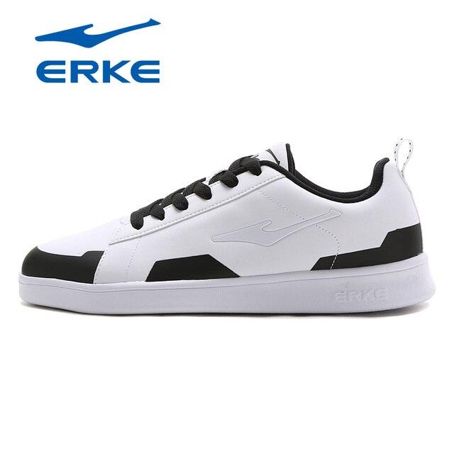 Ерке Для мужчин Обувь для скейтбординга спортивные 2018 Холодный Свет Уайт Спортивная обувь Открытый Обувь спортивная для девочек воздухопроницаемая комфортная обувь Высокое качество