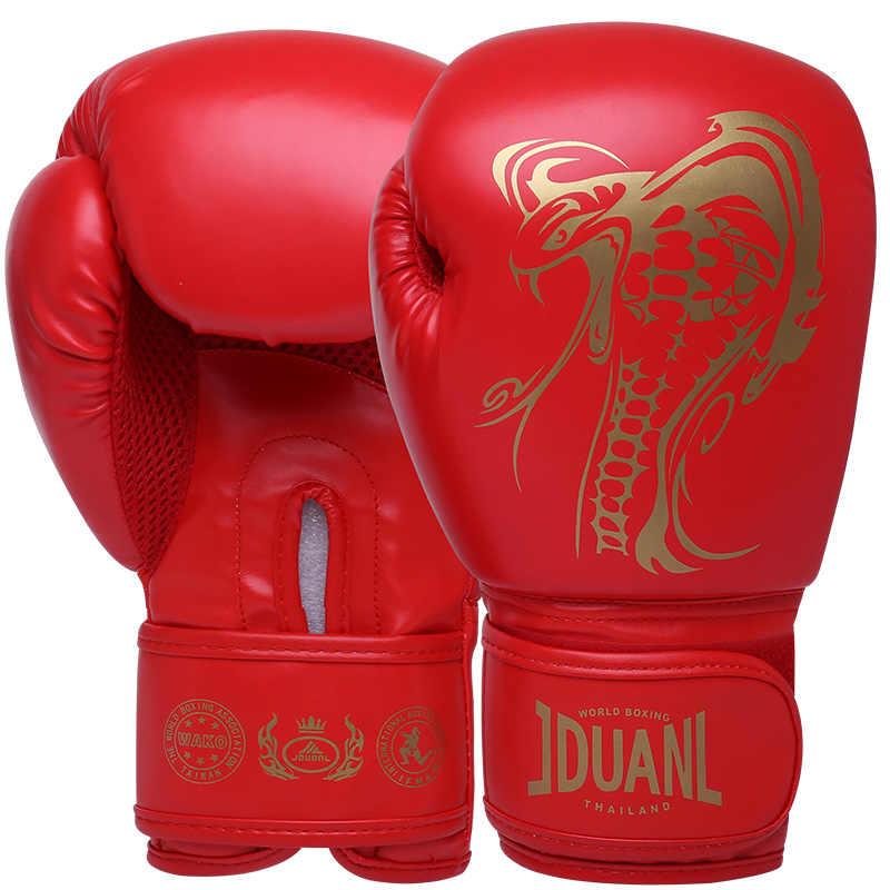 JDUanL 1 ペアヘビパターン子供/Audlts 女性男性ボクシンググローブサンドバッグパンチトレーニングムエタイ空手ファイトミット DEO