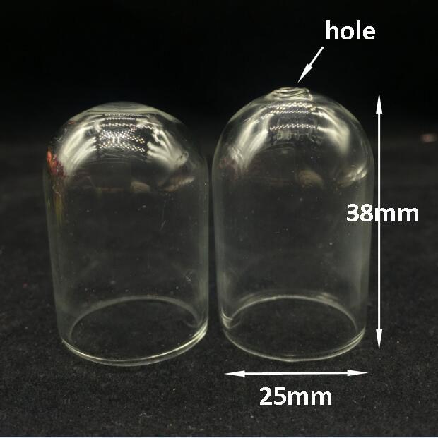 20pcs Large Cloche Clear Vial Glass Bottle Terrarium With Hole On