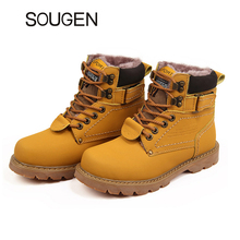 Winter Shoes Men Boots Women Genuine Leather Motorcycle Vintage High Top Snow Boots Martin Military Boots Suede Timber Italians