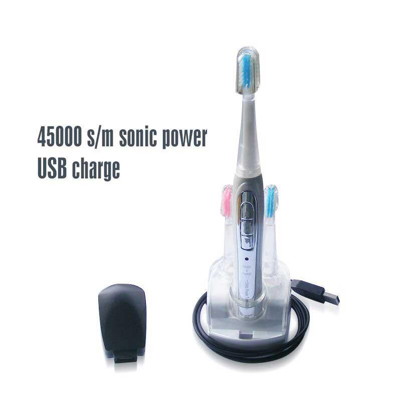 Sonic Elektrische Zahnbürste 46,000 hübe/min 4 Geschwindigkeiten Wiederaufladbare Gum Massage Zahnbürste