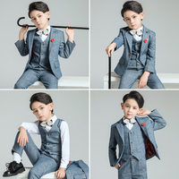 Children's suit kids suits boys suits formal tuxedo baby suit wedding dress boys tailor made suit wedding suits for boys
