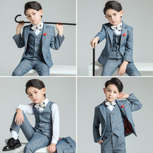 Childrens suit kids suits boys formal tuxedo baby wedding dress tailor-made for