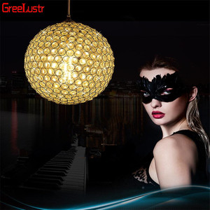 Image 5 - LED Ball Pendant Lights Crystal Pendant Lamp Lustres Hanglamp Fixtures Lamparas Colgantes Abajur Luminaires for Dining Room E27