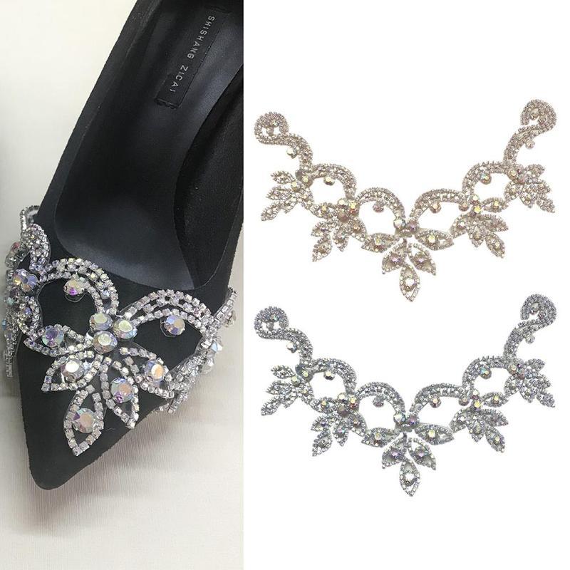 1 Pcs Transparent/bunte Strass Hochzeit Schuh Zubehör Frauen Handgemachte Schuhe Dekoration Legierung Charme Für High Heels Stiefel