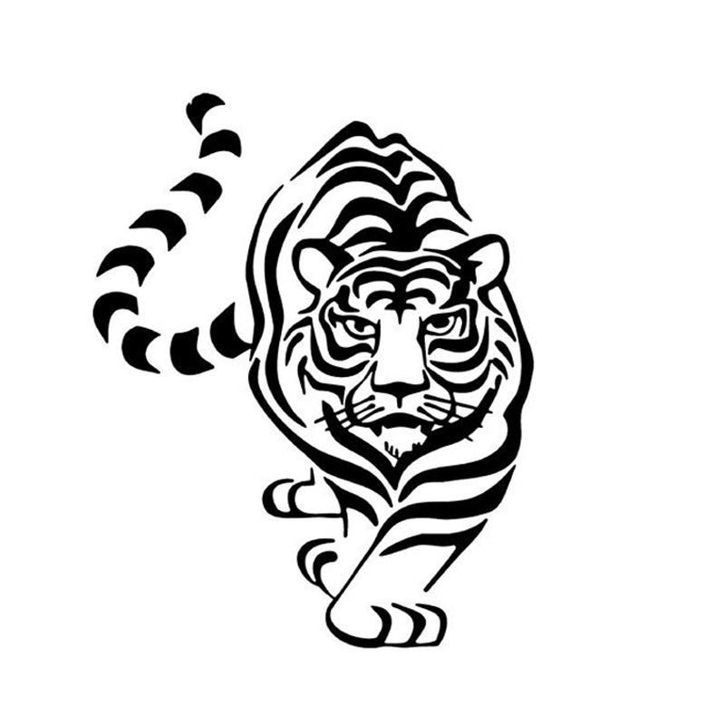 Beastmaster Tiger Reflective Stickers Tiger Head Lamp