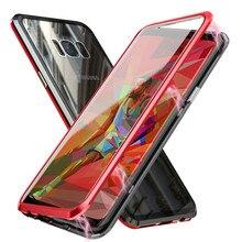 حقيبة لهاتف سامسونج جالاكسي S10 S10e S10 Plus 5G S8 s9 Plus نوت 8 9 واقي للشاشة من الزجاج المقسى A60 A70