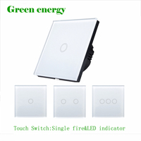 EU UK Standard Switch 1Gang 2Gang 3 Gang White Touch Switch Smart Home Automation Wireless Wifi