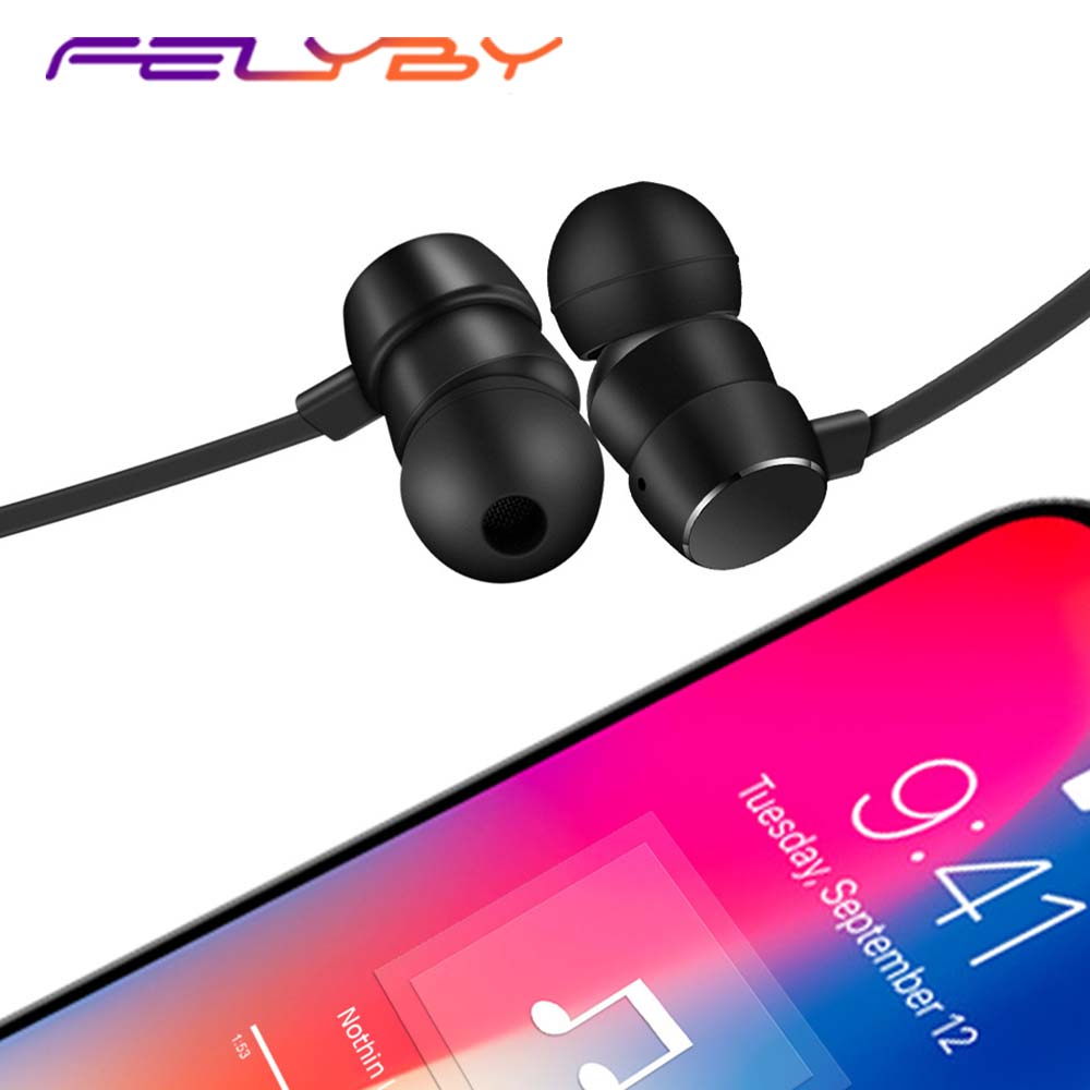 FELYBY new soft neck strap Bluetooth  wireless subwoofer waterproof noise reduction new explosion models earphone