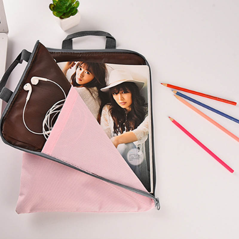 1 PC Document Filing Bag Stationery Pouch Large Capacity Laptop Bags Briefcase Multifunction Multilayer Nylon Waterproof