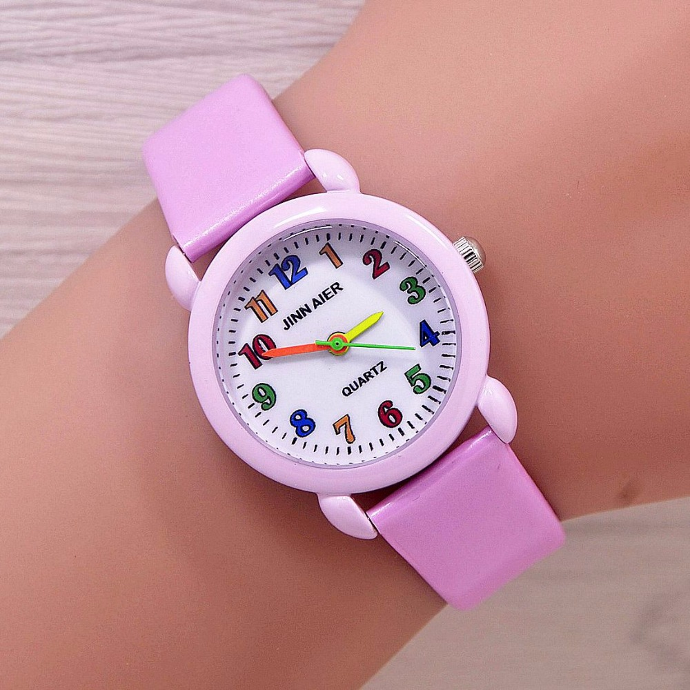 Children Watch Fashion Brand Watches Quartz Wristwatches Kids Clock Boys Girls Students Wristwatch Multicolor Watch Plate