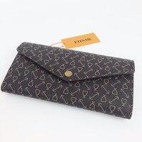SARAH бумажник новая мода женские любимые кошельки длинный дизайн Монограмма холст sarah кошельки Бесплатная доставка