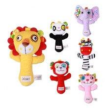 2019 neue Cartoon Tier Baby Rasseln Weiche Baby Plüsch Spielzeug 0 + Baby Puppen Geschenk Heißer Verkauf