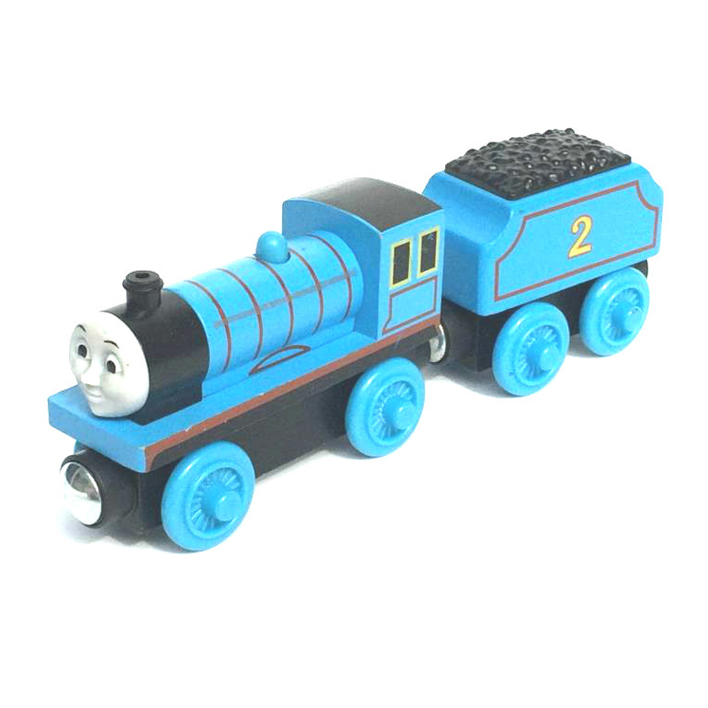 W51 free shipping RARE NEW EDWARD &TRUCK Original Thomas And Friends Wooden Magnetic Railway Model Train Engine Boy / Kids Toy