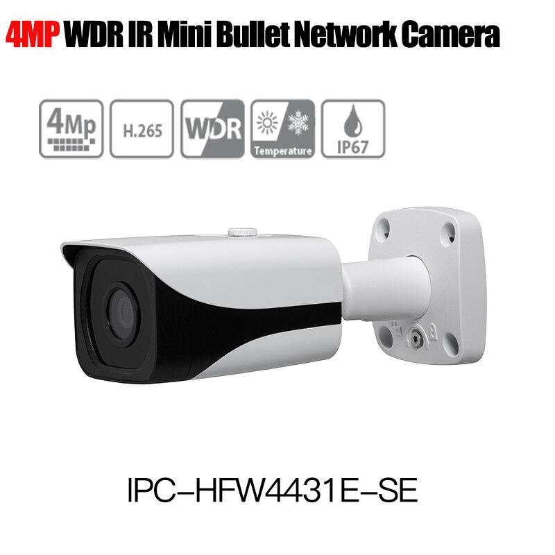 Dahua H.265 4MP IP Camera IPC-HFW4431E-SE WDR IR Bullet Network Camera outdoor camera 1080P replace IPC-HFW4431E-S with logo free shipping dahua security outdoor camera 2mp wdr ir mini bullet network camera ip67 with poe without logo ipc hfw4231e se
