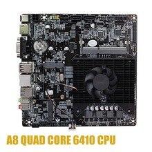 Carte mère Ultra mince Mini itx intégrée au processeur A8 6410 R5 traitement graphique vidéo APU VGA RJ45 HDMI USB 3.0 mSata utilisation 12V DC
